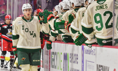 Dewar Scores Two Goals to Lead Wild Past Grffins