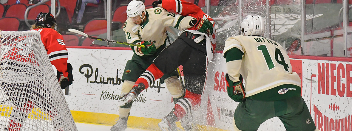 Busdeker Leads Rockford Rally as IceHogs Down Wild, 5-3